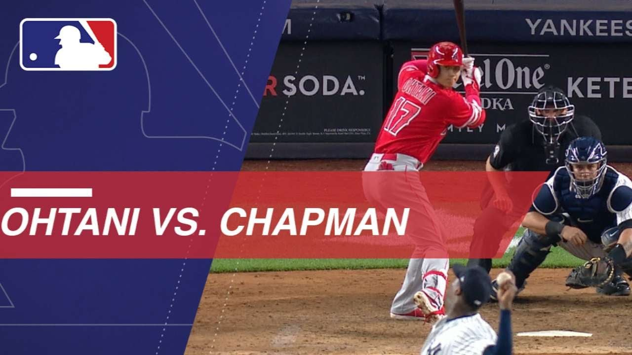 Shohei Ohtani takes on Aroldis Chapman in New York - Shohei Ohtani takes on Aroldis Chapman in New York
