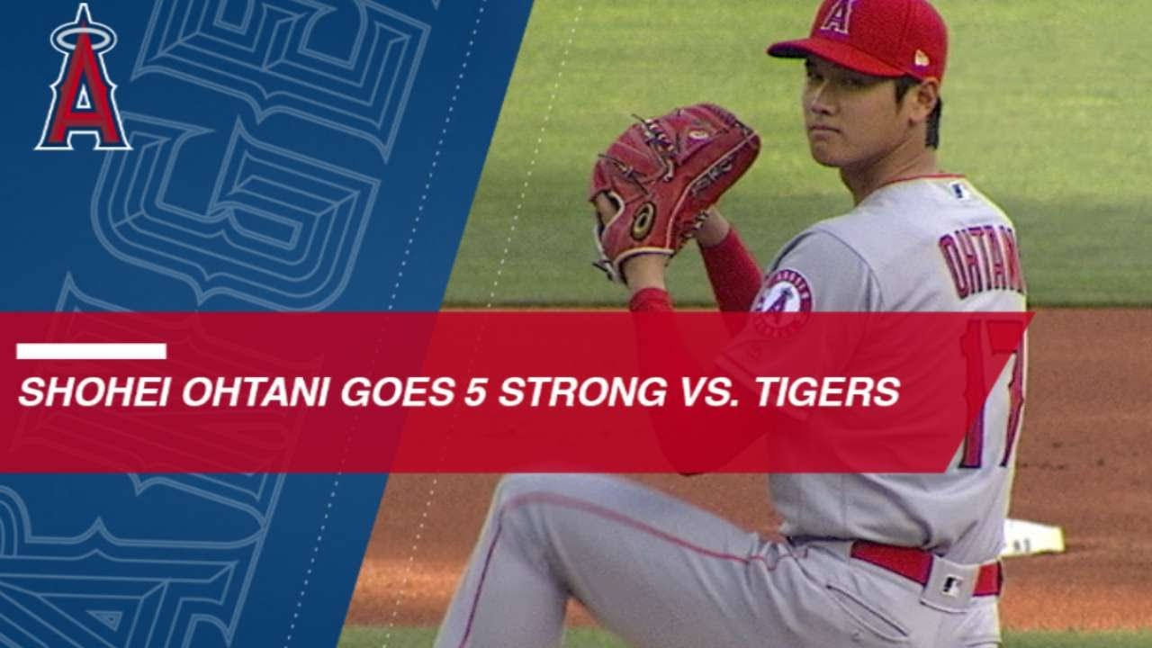 Shohei Ohtani fans 5 in strong outing against the Tigers - Shohei Ohtani fans 5 in strong outing against the Tigers